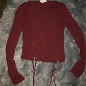 Red long sleeve with ties